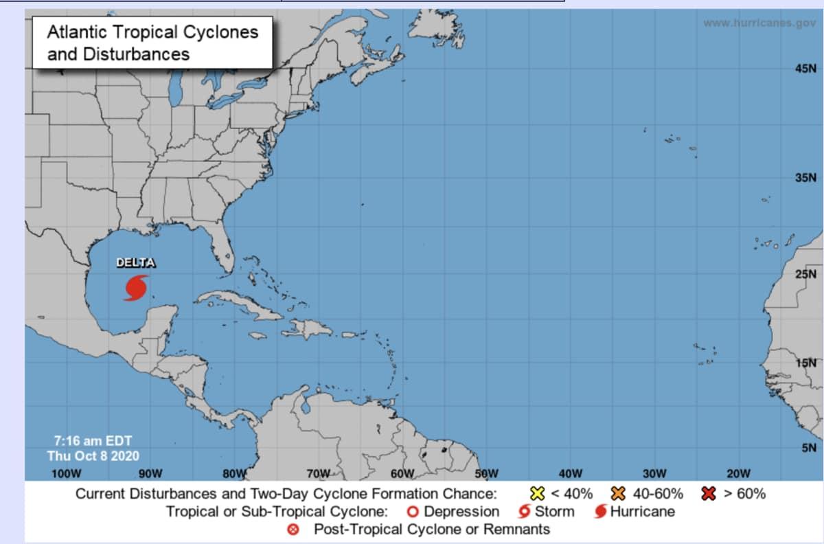 Meteo, l'uragano DELTA devasta lo Yucatan e punta agli Stati Uniti