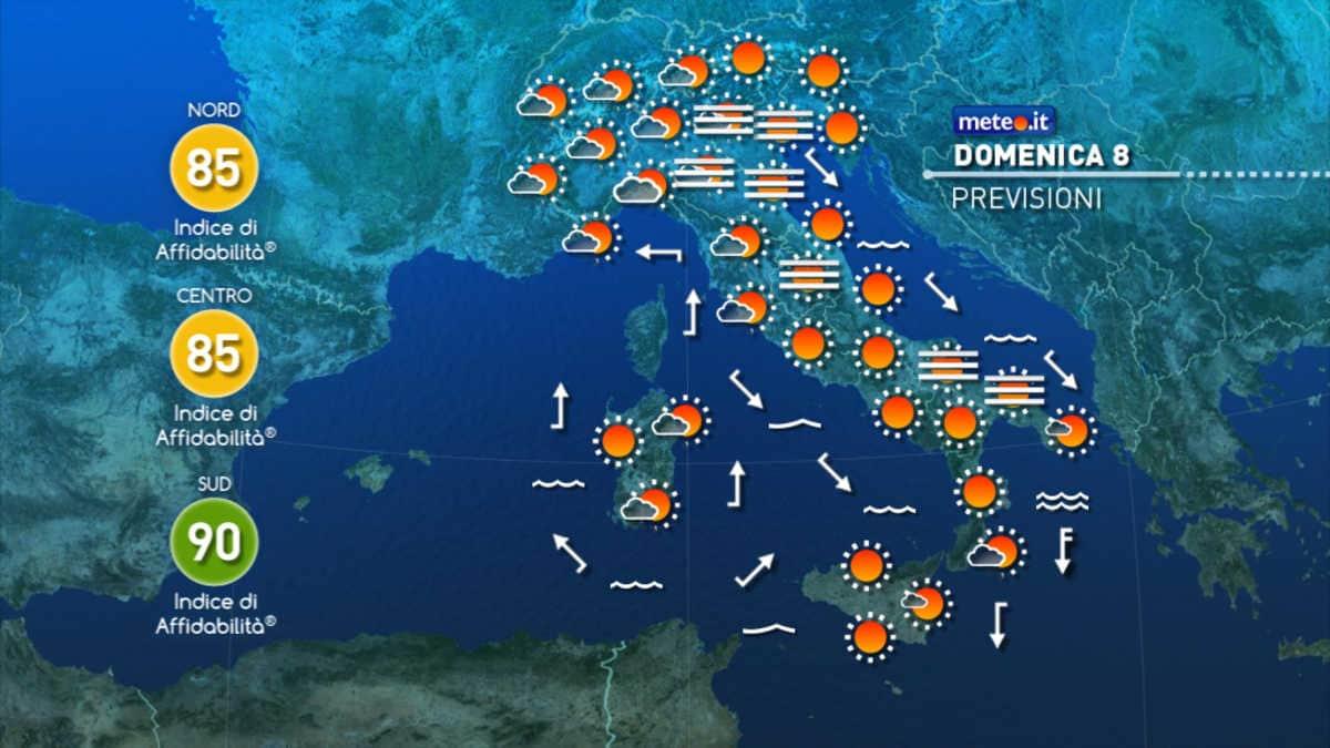 Cartina Meteorologica Dell Italia.Meteo Domenica Qualche Nuvola In Piu Ma Senza Pioggia Unica Radio