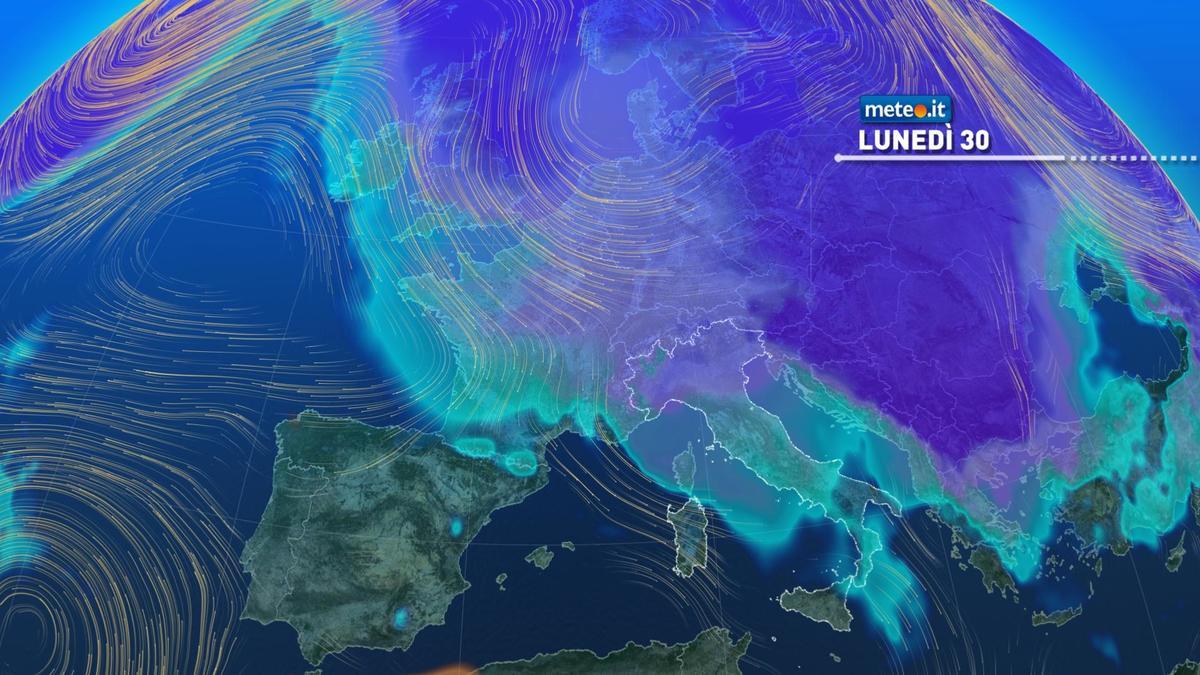 Meteo, lunedì 30 novembre tregua poi arriva il freddo