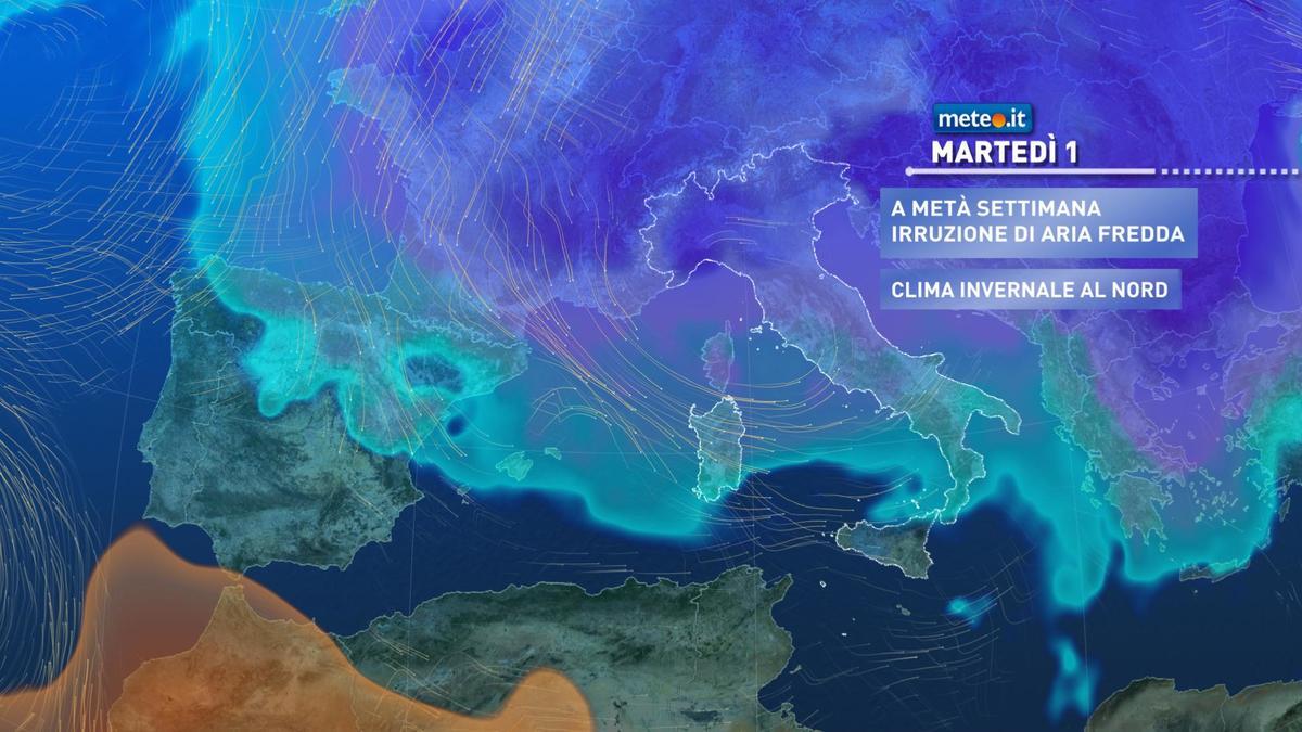Meteo 1 dicembre: maltempo invernale in arrivo