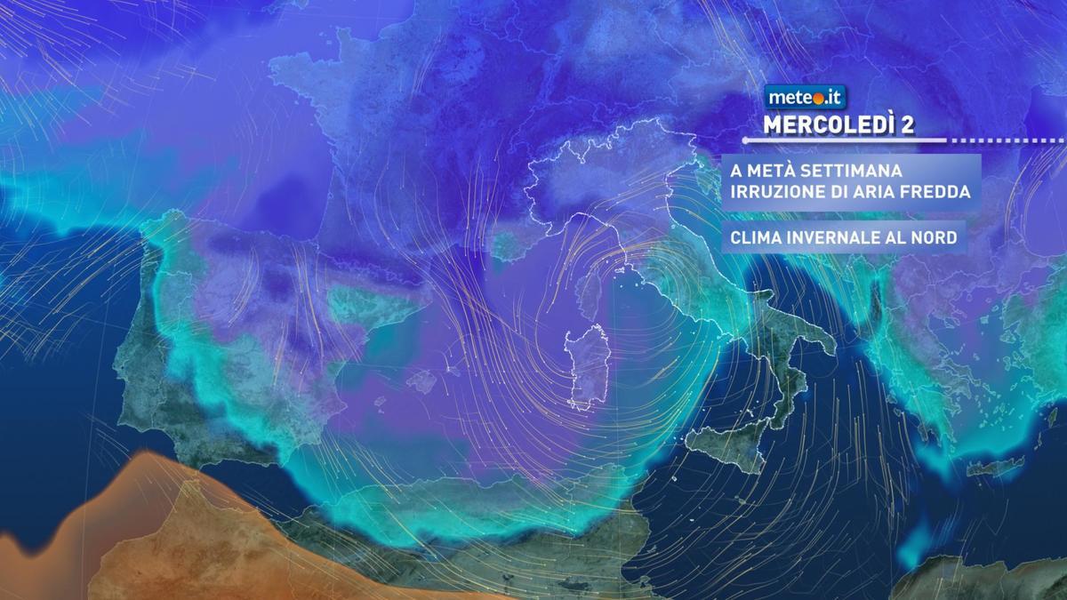 Meteo, fase più stabile ma da mercoledì 2 dicembre arrivano freddo e maltempo