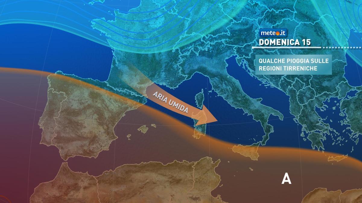 Meteo, domenica 15 novembre molte nuvole sull'Italia poi torna la pioggia