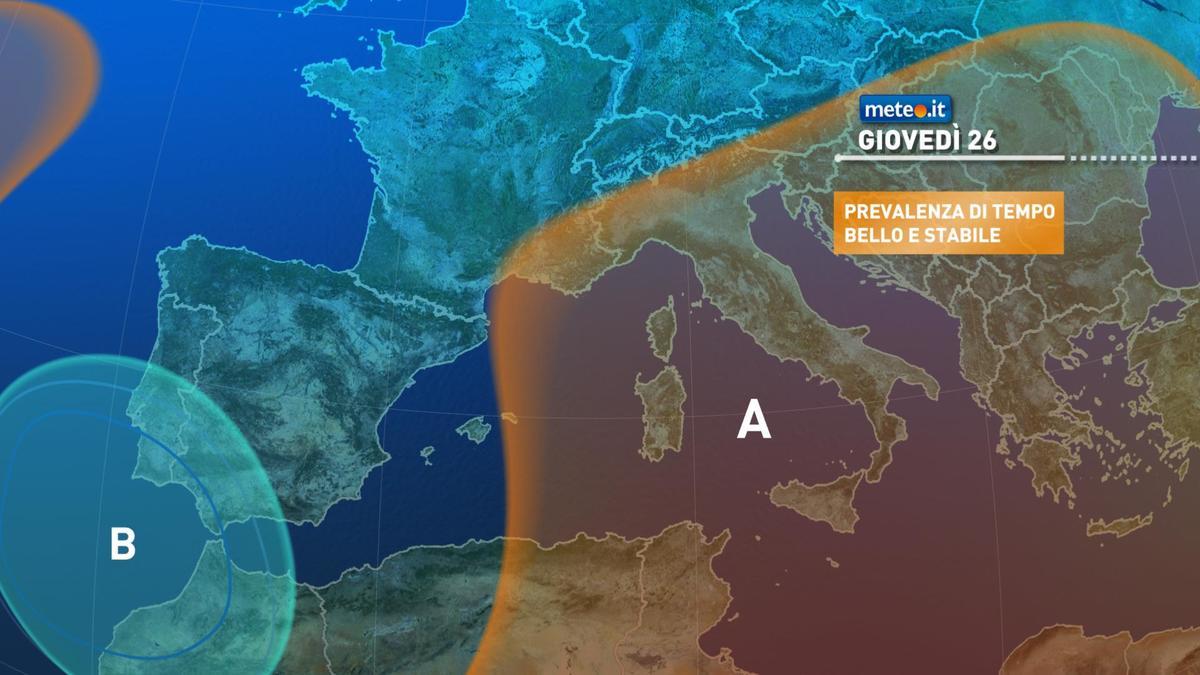 Meteo, giovedì 26 novembre tempo stabile ma durerà poco
