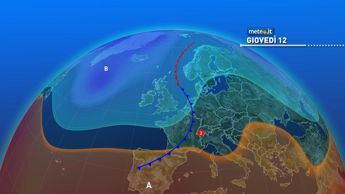 Meteo, giovedì 12 novembre torna qualche debole pioggia