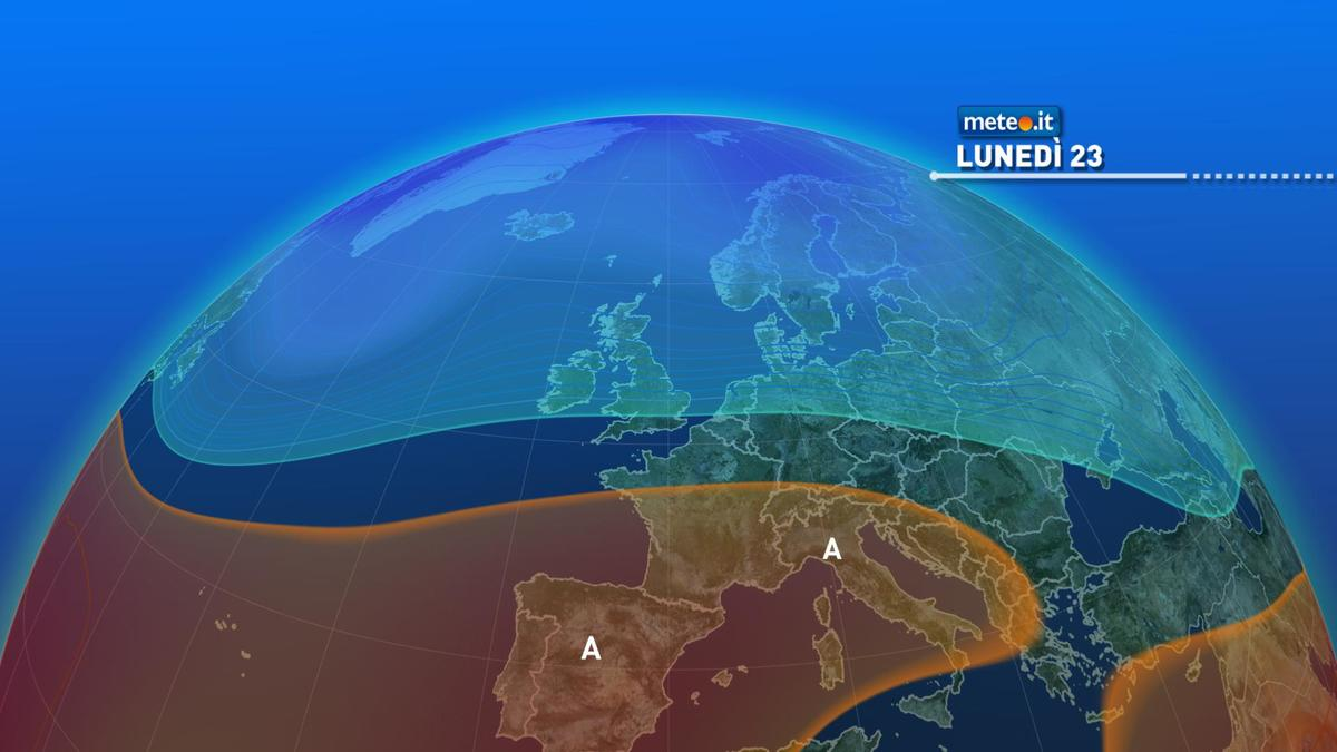 Meteo, lunedì 23 novembre ancora pioggia al Sud