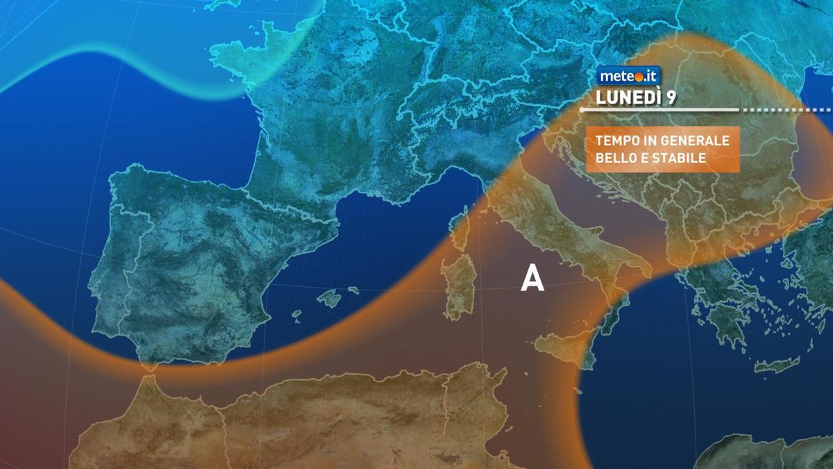 Meteo, lunedì 9 novembre prosegue la stabilità atmosferica