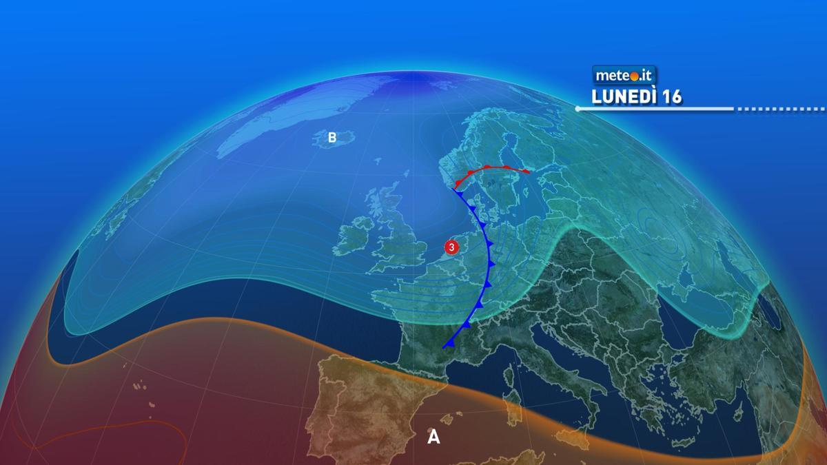 Meteo, tra oggi e martedì 17 novembre arriva la pioggia in molte regioni