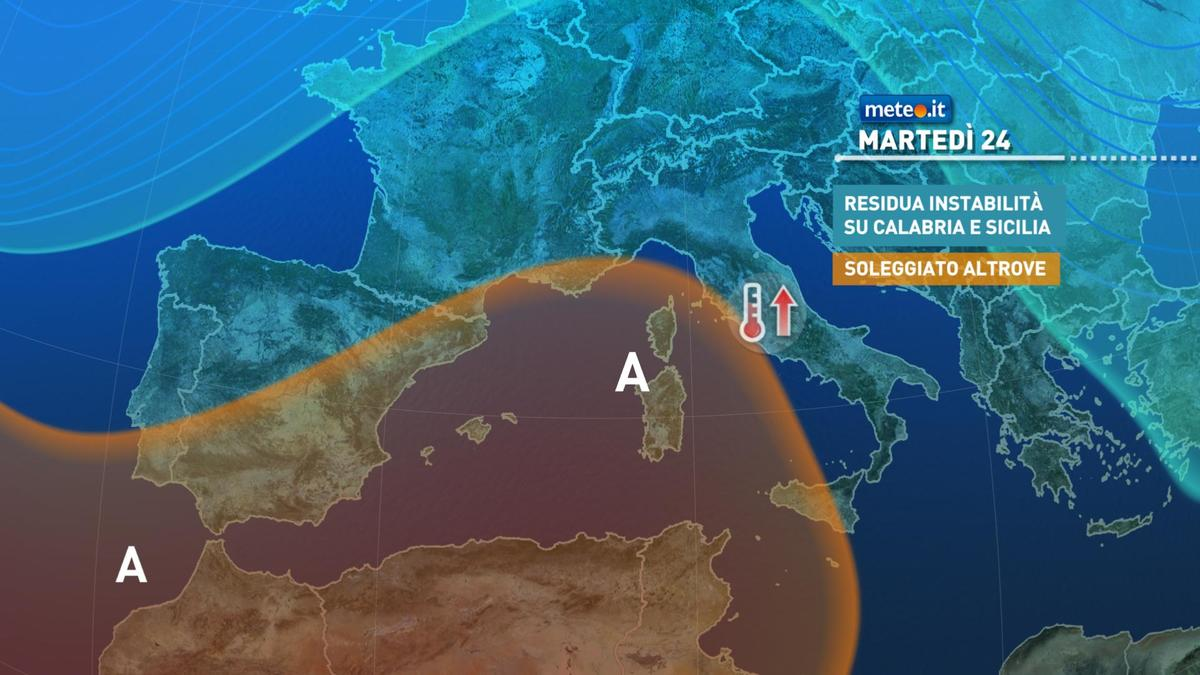 Meteo, rischio pioggia al Sud anche dopo lunedì 23 novembre