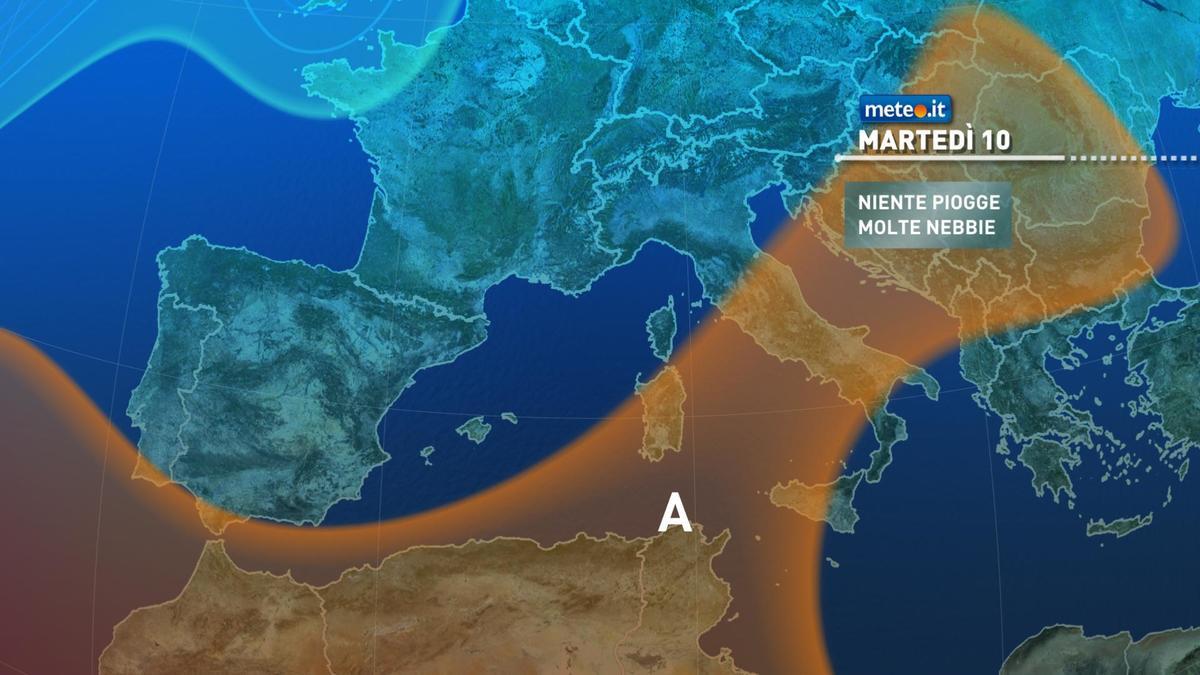 Meteo, martedì 10 novembre tempo stabile e clima mite