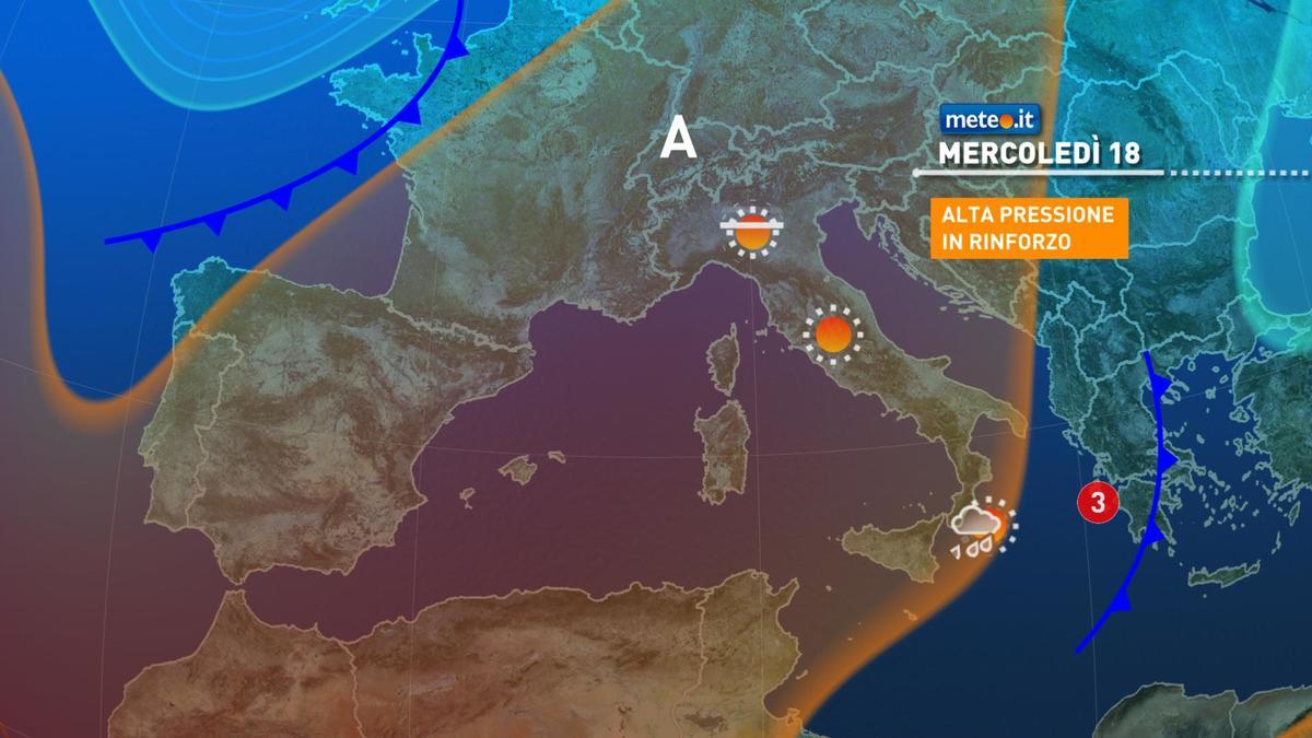Meteo, mercoledì 18 novembre ancora qualche pioggia al Sud, bel tempo nel resto d'Italia