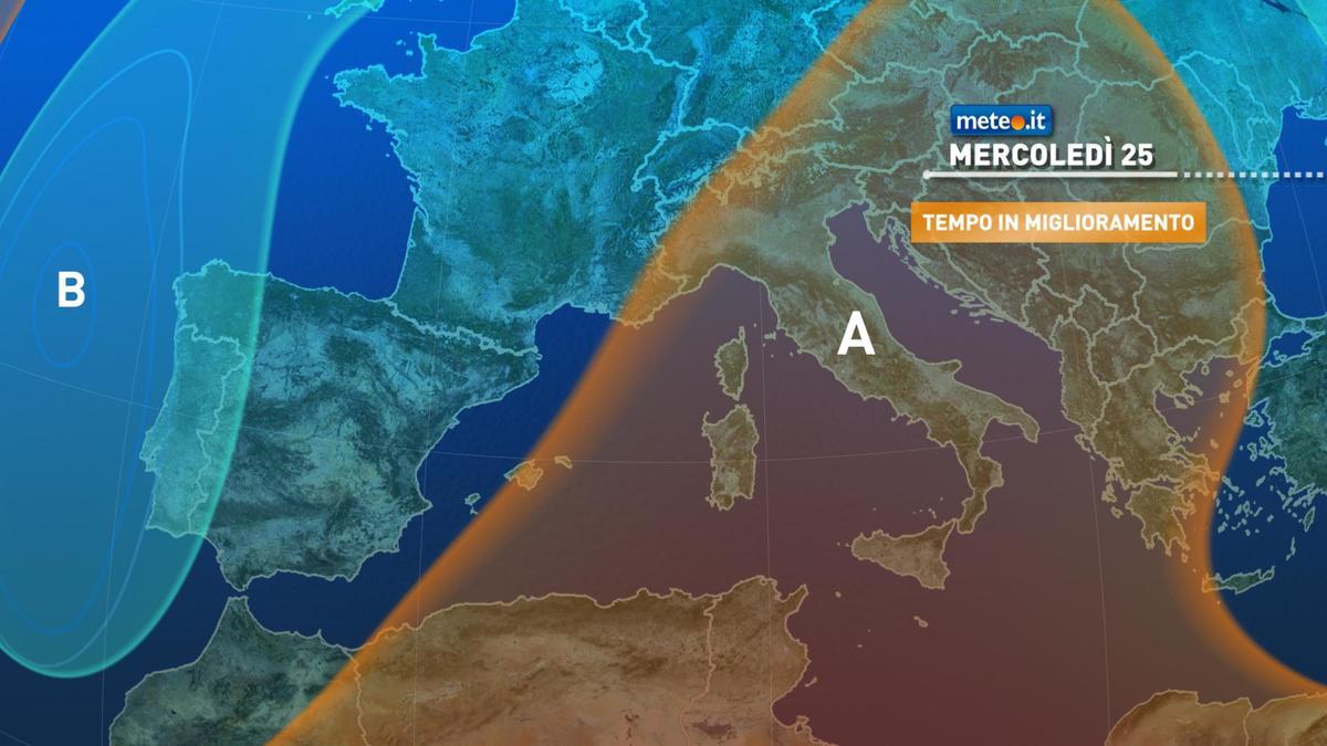 Meteo, mercoledì 25 novembre ultime piogge all'estremo Sud