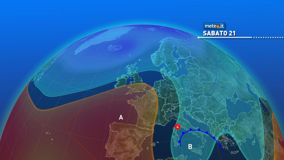 Meteo, nel weekend del 21-22 novembre instabile al Sud con rischio di forti temporali