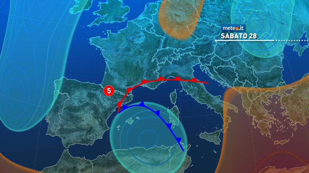Meteo, sabato 28 novembre forte maltempo e rischio nubifragi