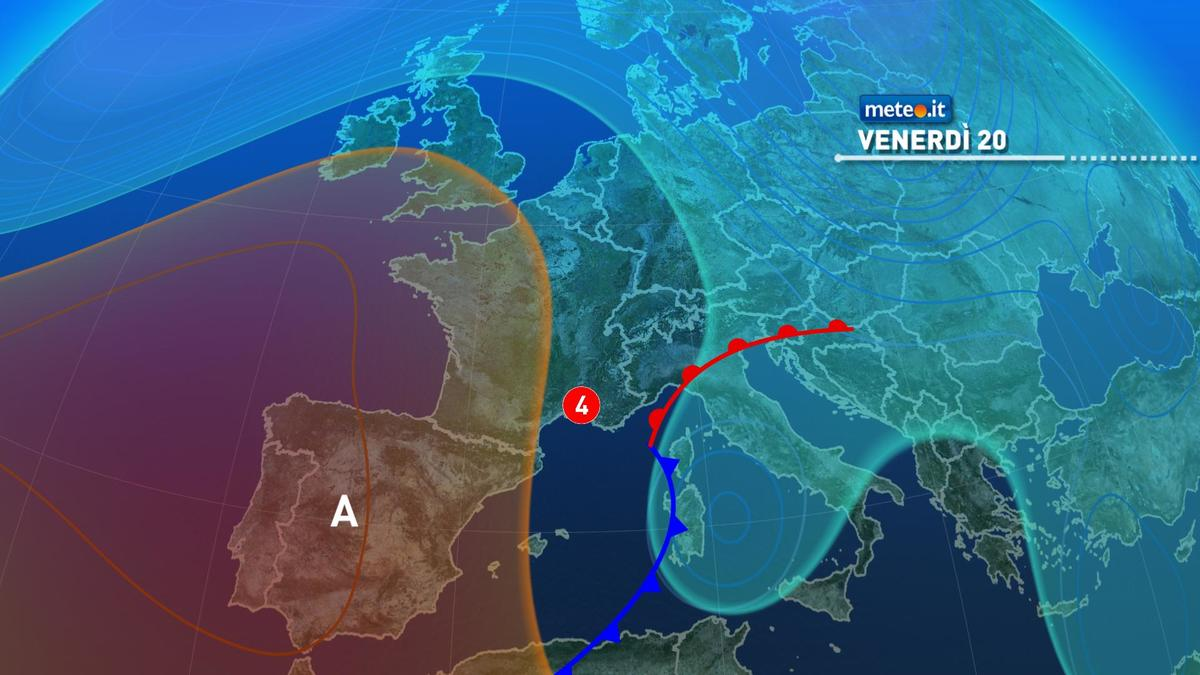 Meteo, a partire da venerdì 20 novembre piogge, venti molto intensi e neve al Centro-sud