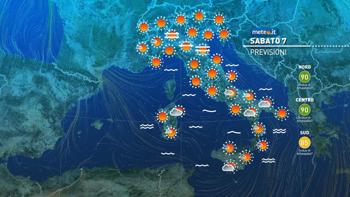 Meteo, sabato 7 novembre tempo stabile e clima mite