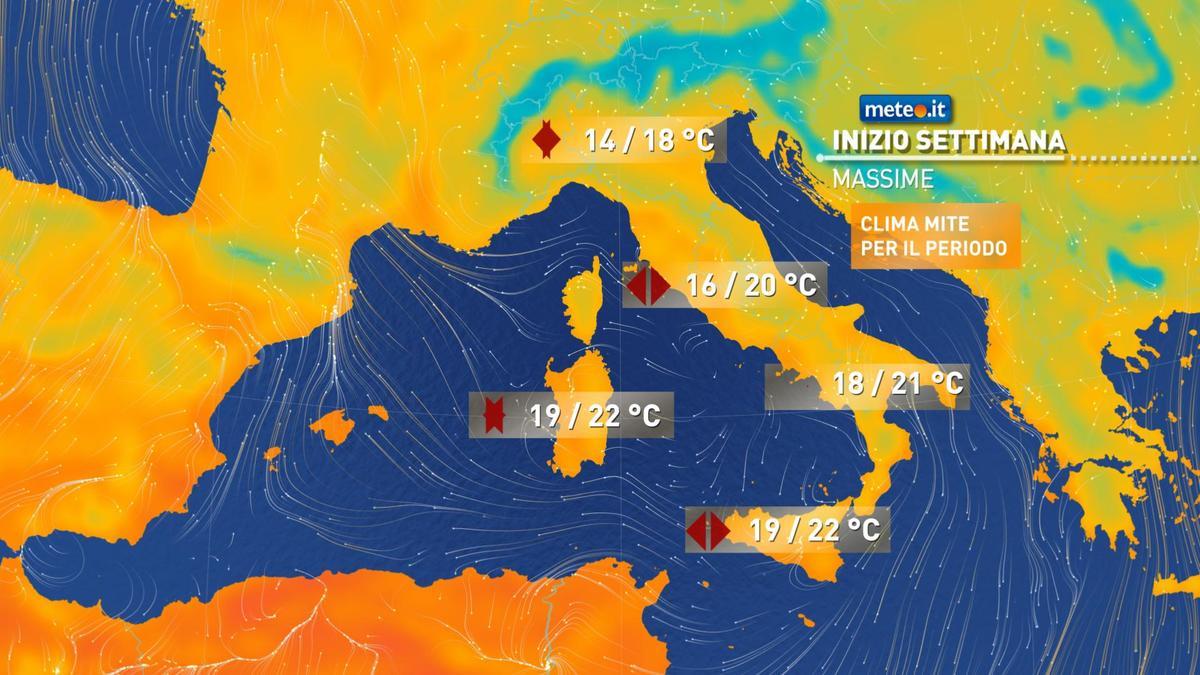 Meteo, alta pressione ancora protagonista tra lunedì 9 novembre e mercoledì 11