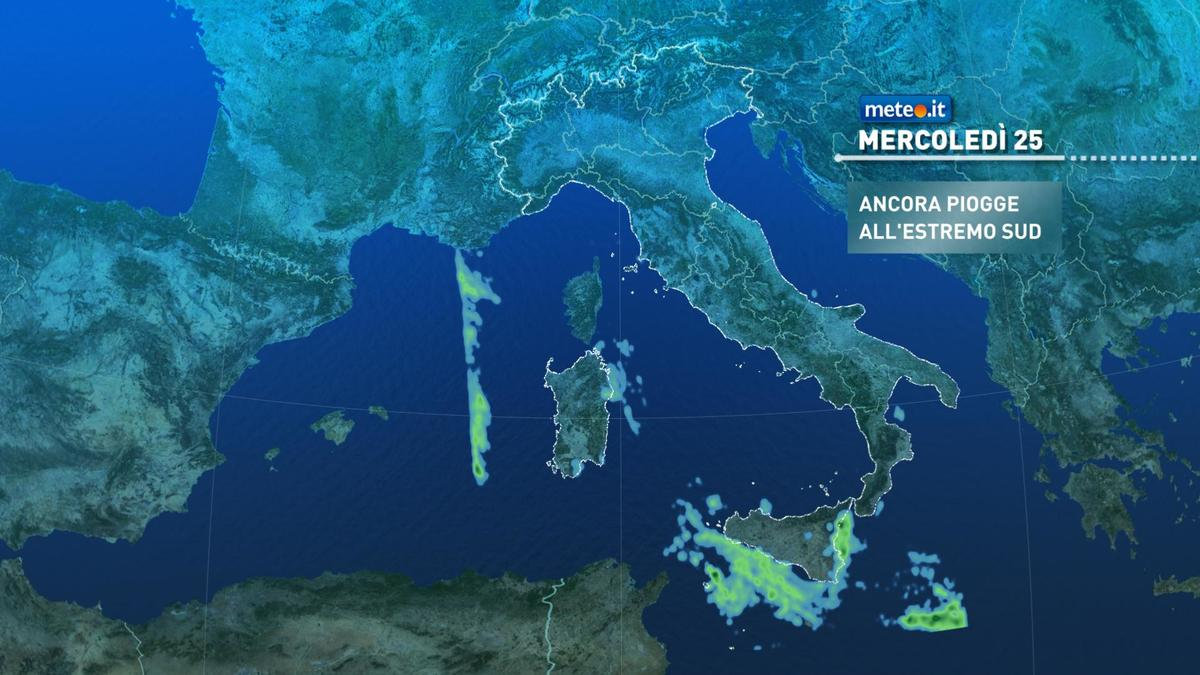 Meteo, graduale miglioramento all'estremo Sud: giovedì 26 novembre tempo stabile in tutta Italia