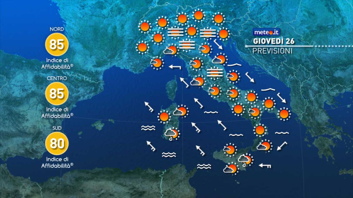 Meteo Italia Cartina.Meteo Da Venerdi 27 Novembre Torna Il Maltempo