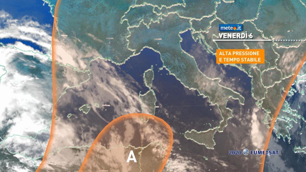 Meteo, venerdì 6 novembre ancora dominato dall'alta pressione