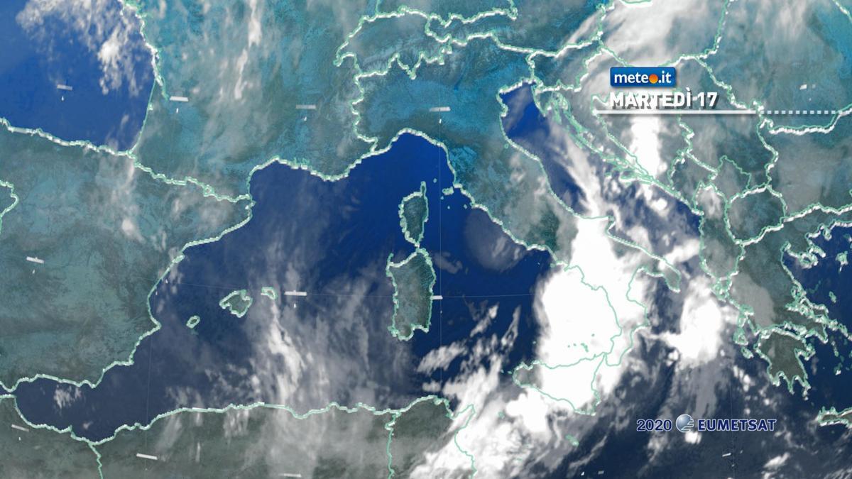 Meteo, 17 novembre con molte piogge al Sud