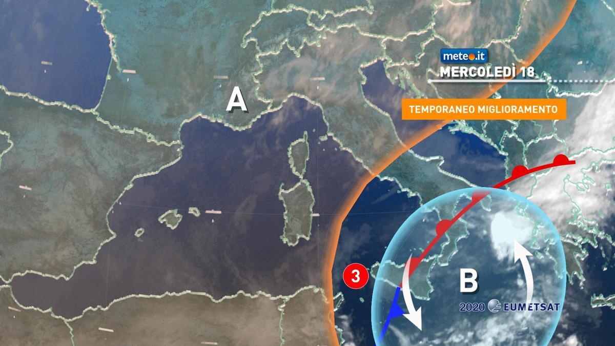 Meteo, mercoledì 18 novembre alta pressione in rinforzo