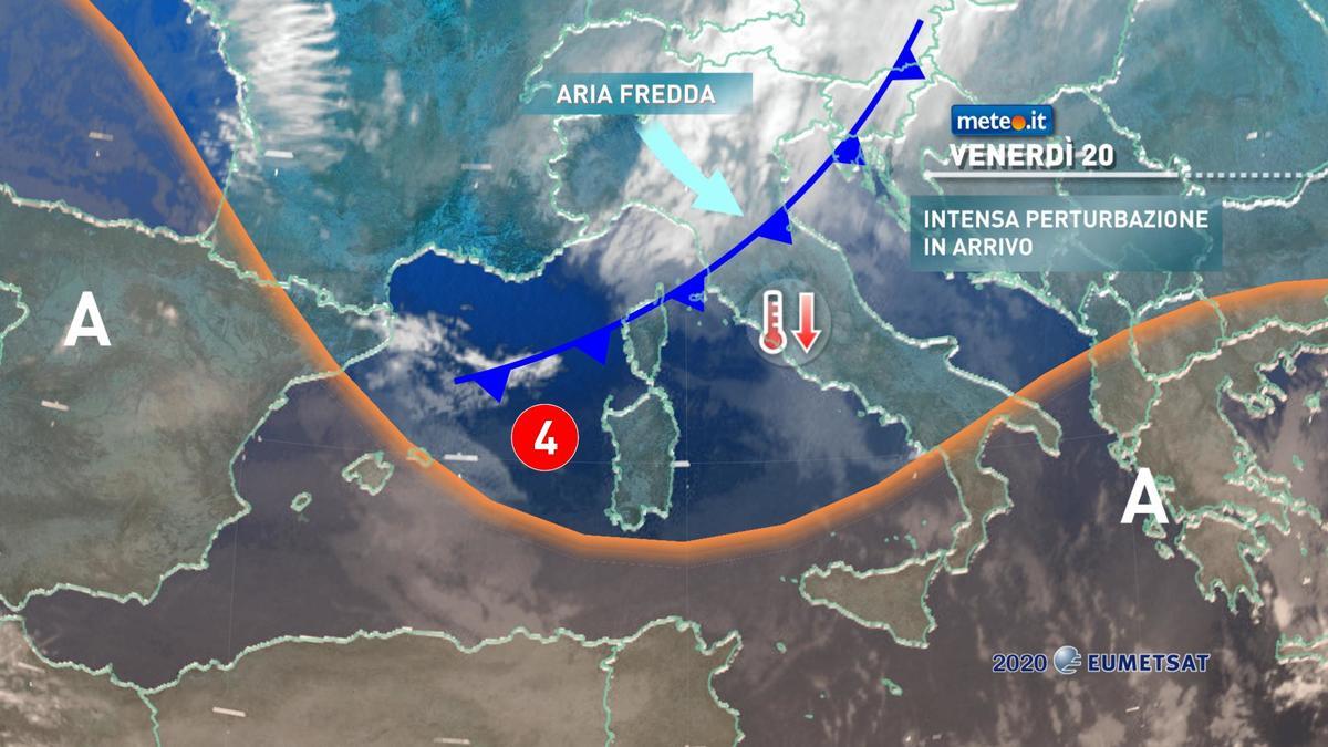 Meteo, fino a sabato 21 novembre pioggia, venti burrascosi e neve al Centro-sud