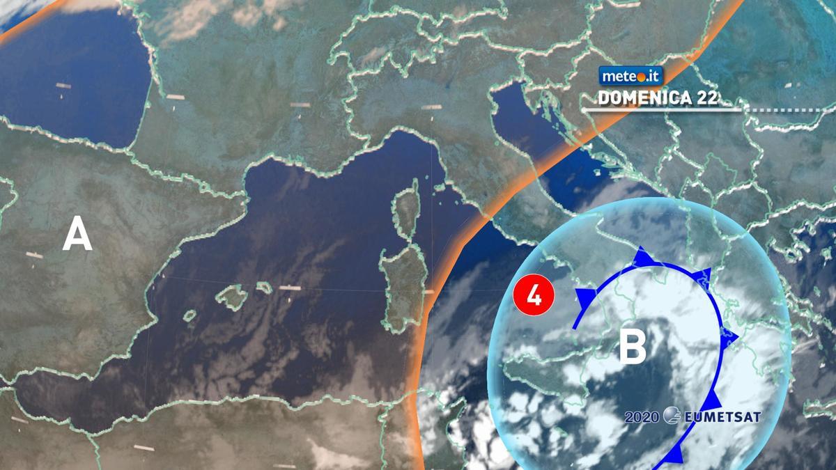 Meteo, domenica 22 novembre il maltempo insiste al Sud