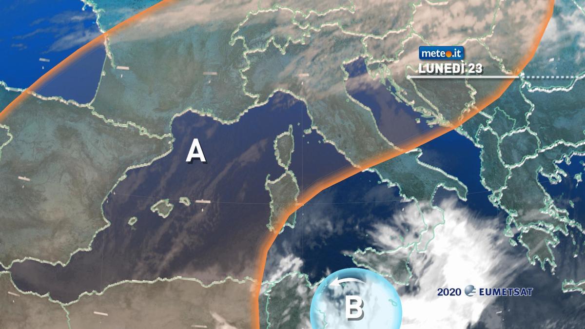 Meteo, lunedì 23 novembre di maltempo in Calabria e Sicilia