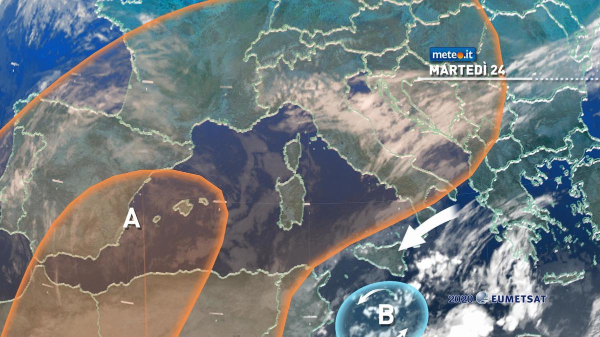 Meteo, fino a mercoledì 25 novembre insiste il maltempo tra Sicilia e Calabria