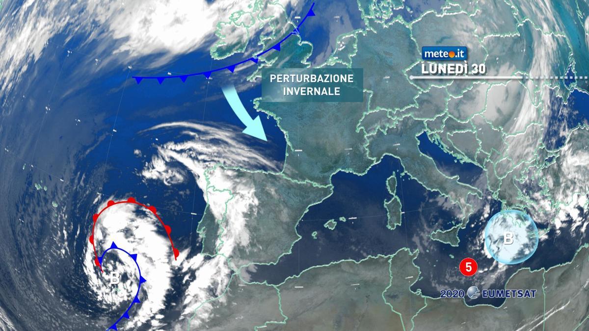 Meteo, lunedì 30 novembre con tempo più stabile, ma la tregua sarà breve