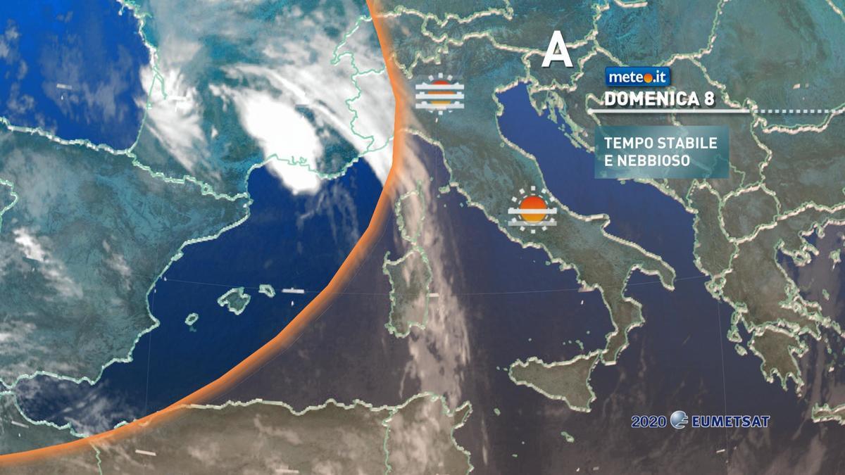 Meteo, domenica 8 novembre tempo ancora stabile e clima mite