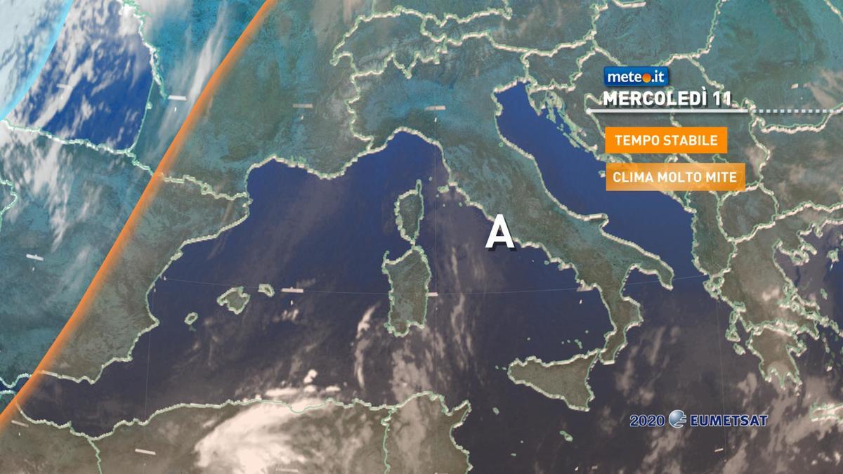 Meteo, tempo stabile ma giovedì 12 novembre arriva qualche pioggia
