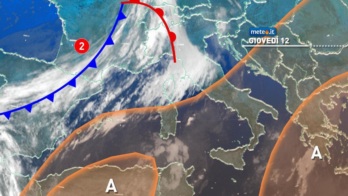 Meteo, tra oggi e venerdì 13 molte nuvole e deboli piogge sull'Italia