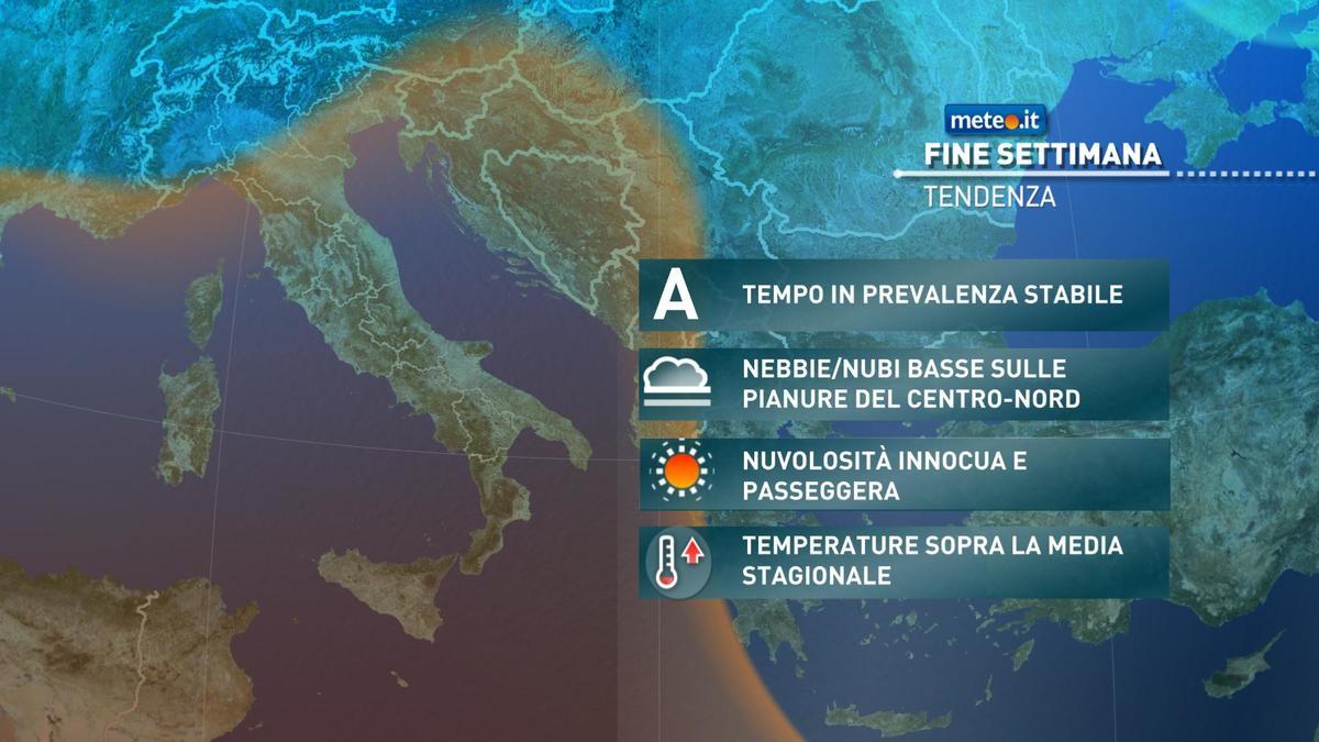Meteo weekend 14-15 novembre: molte nuvole sull'Italia. Gli aggiornamenti