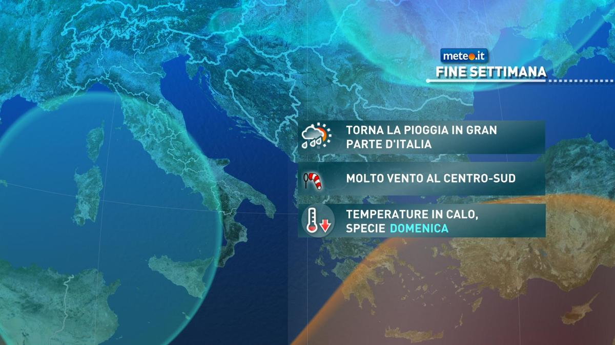 Meteo, nuova fase di maltempo nel weekend del 28 e 29 novembre