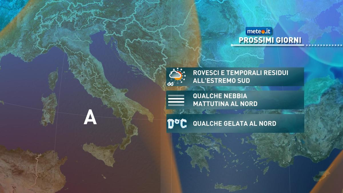 Meteo, anche oggi 24 novembre rischio di temporali tra Calabria e Sicilia