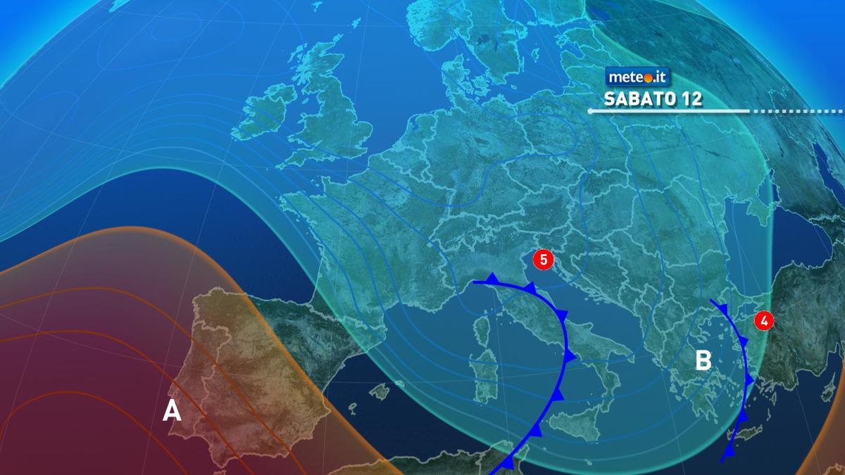 Meteo, tra sabato 12 e domenica 13 dicembre maltempo protagonista in molte regioni