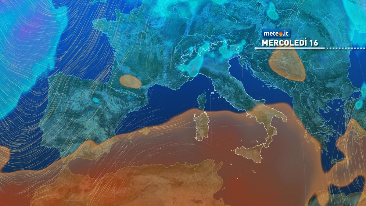Meteo, 16 dicembre con qualche pioggia al Centro-Nord, caldo anomalo al Sud