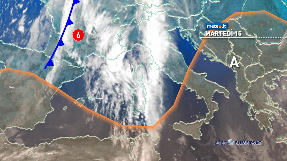 Meteo 15 dicembre: perturbazione in arrivo, torna la pioggia