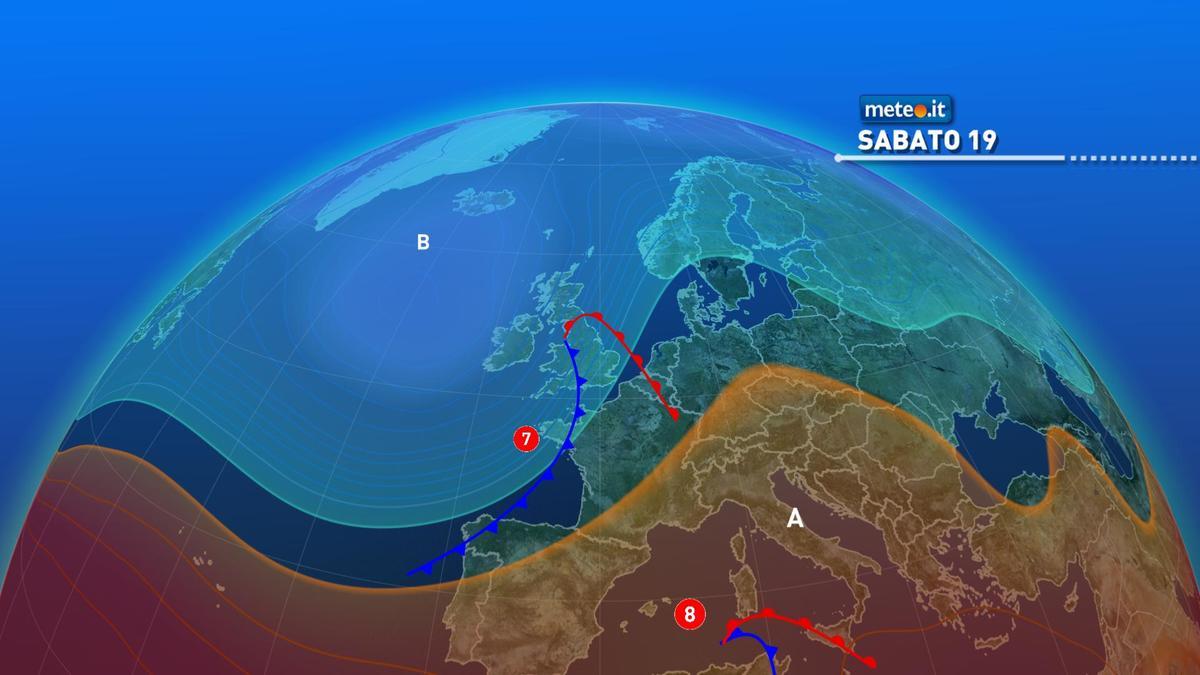 Meteo, due perturbazioni sull'Italia nel weekend del 19 e 20 dicembre
