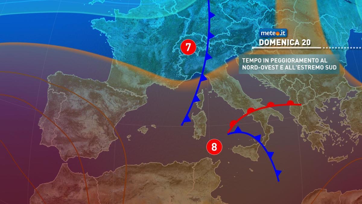 Meteo, domenica 20 dicembre rischio pioggia su alcune regioni