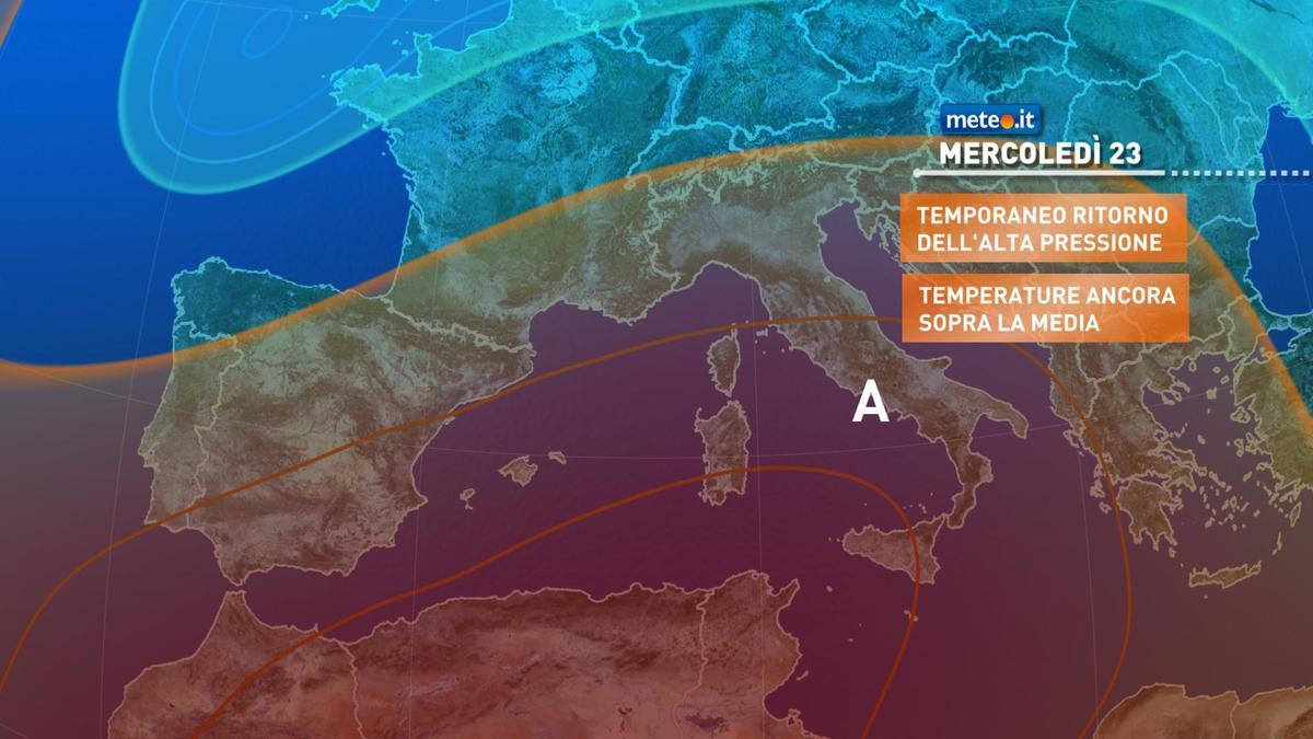 Meteo, 23 dicembre con tempo stabile e clima mite. Cambiamenti in vista da Natale