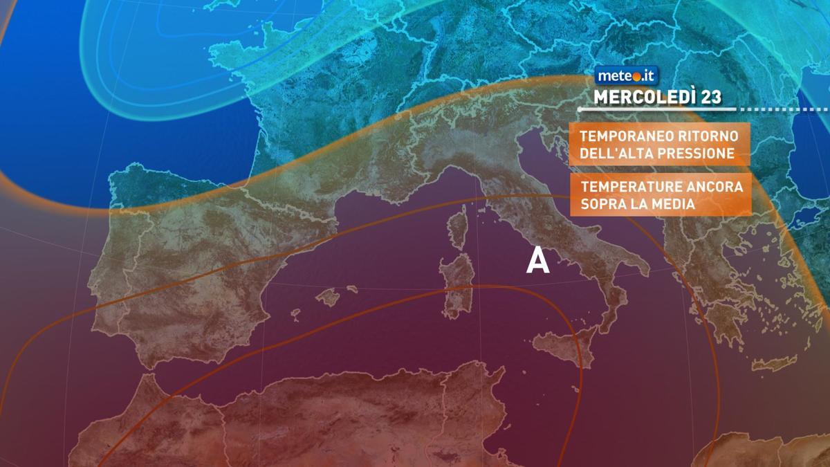 Meteo 23 dicembre: tempo stabile e clima mite, ma durerà ancora poco