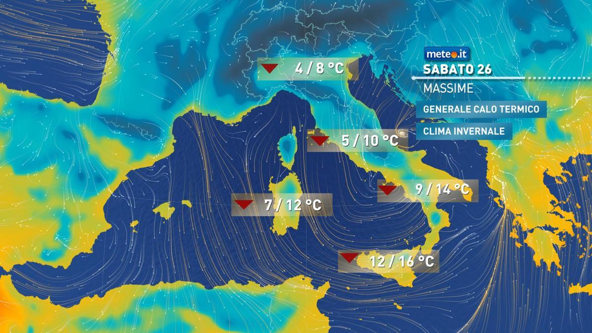 Meteo, Santo Stefano in compagnia del freddo. Sole al Nord, maltempo al Centro-Sud
