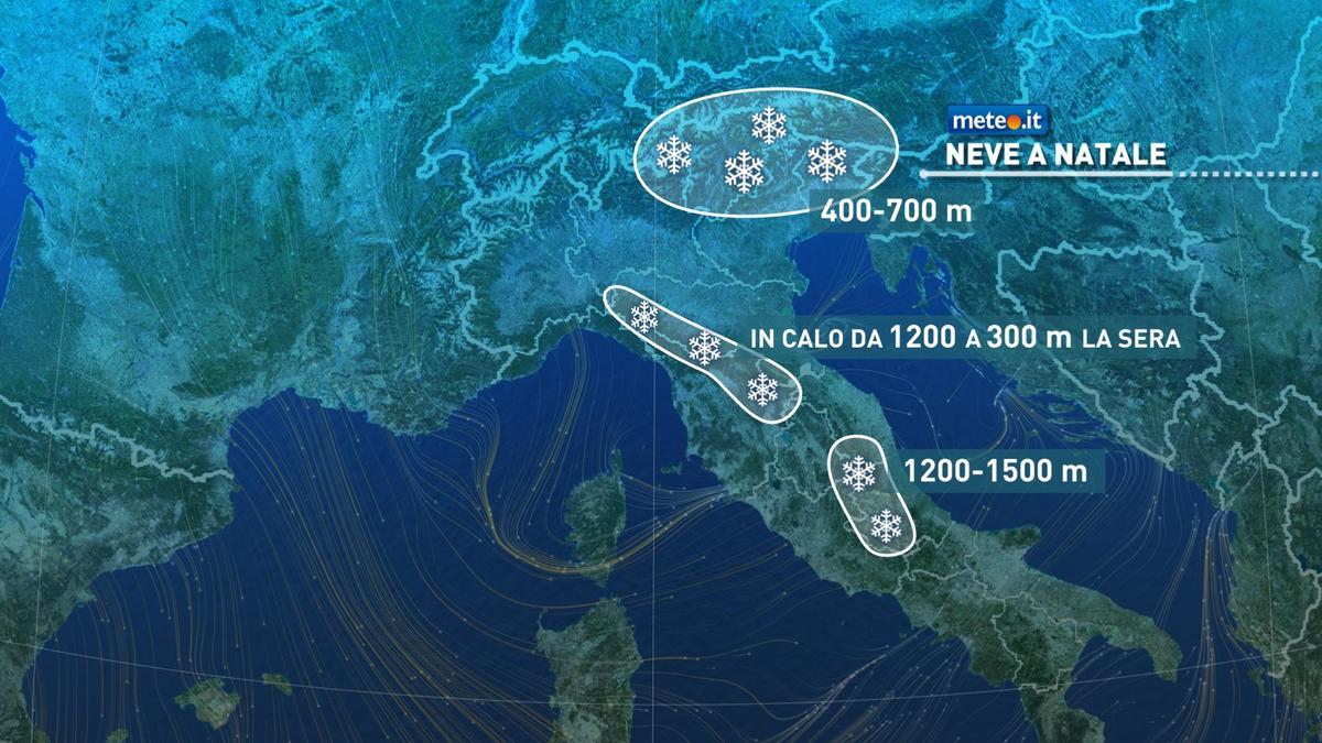 Meteo, Natale ci porta una decisa svolta meteorologica di stampo invernale