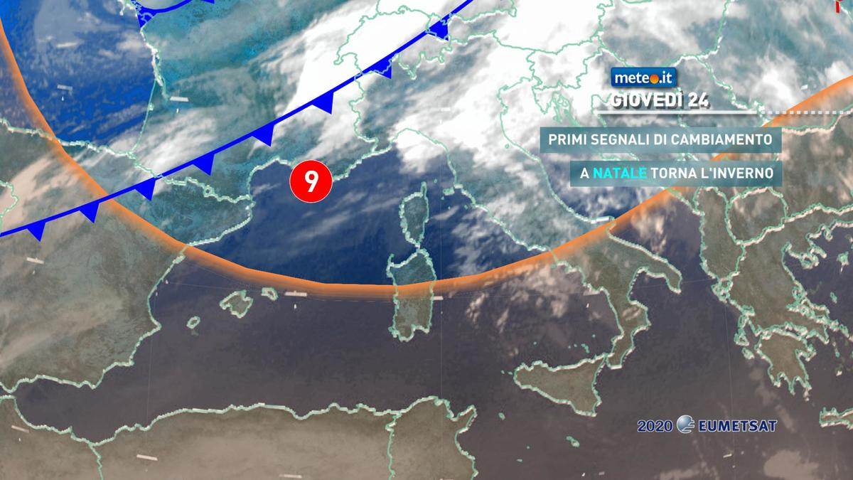 Meteo, vigilia di Natale con i primi segnali di un cambiamento meteorologico