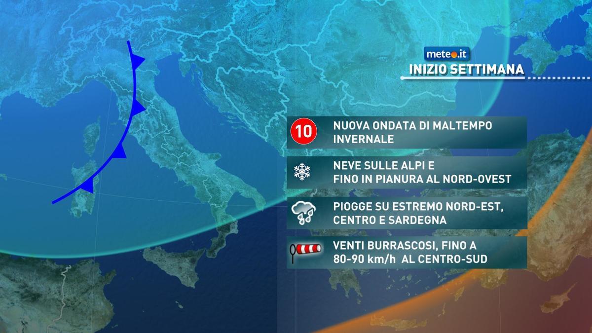 Meteo, la settimana di Capodanno si aprirà con clima invernale e maltempo