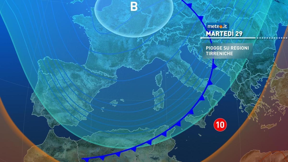 Meteo, 29 dicembre ancora a rischio maltempo