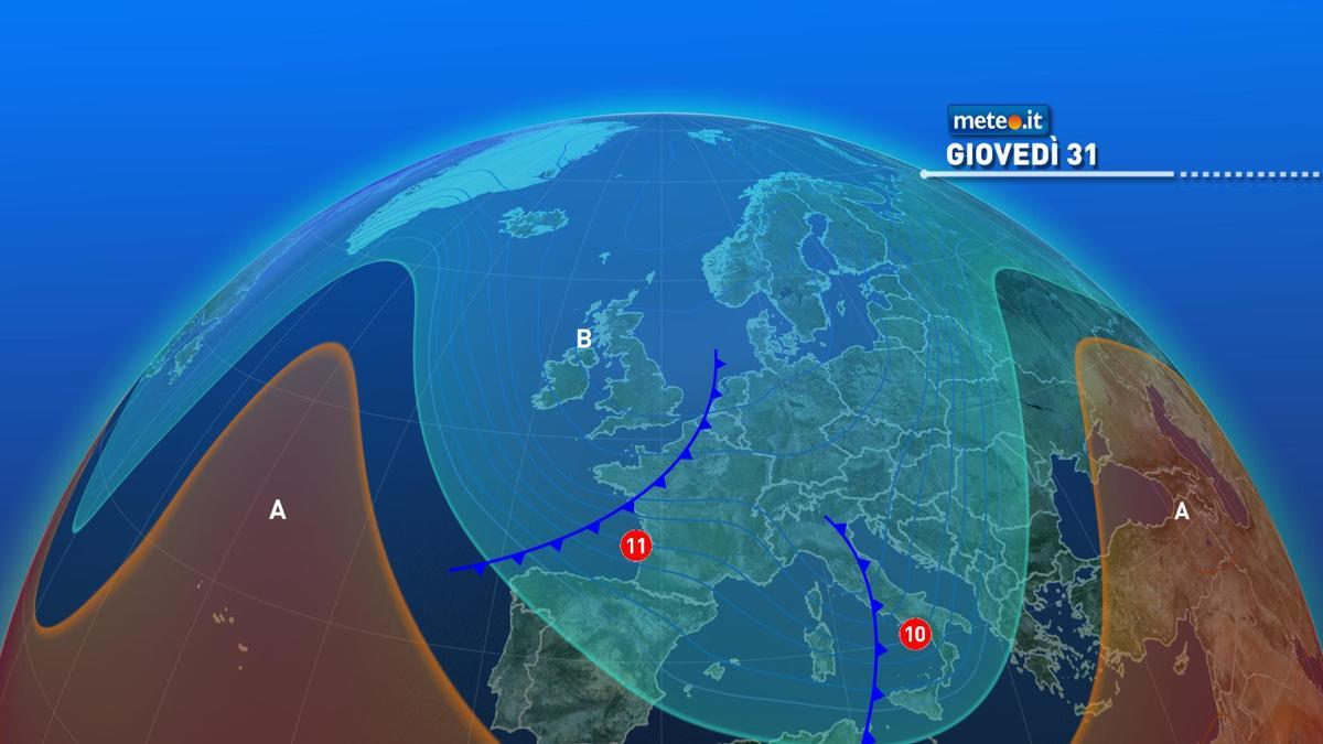Meteo, 31 dicembre stabile. Da Capodanno nuova fase di maltempo