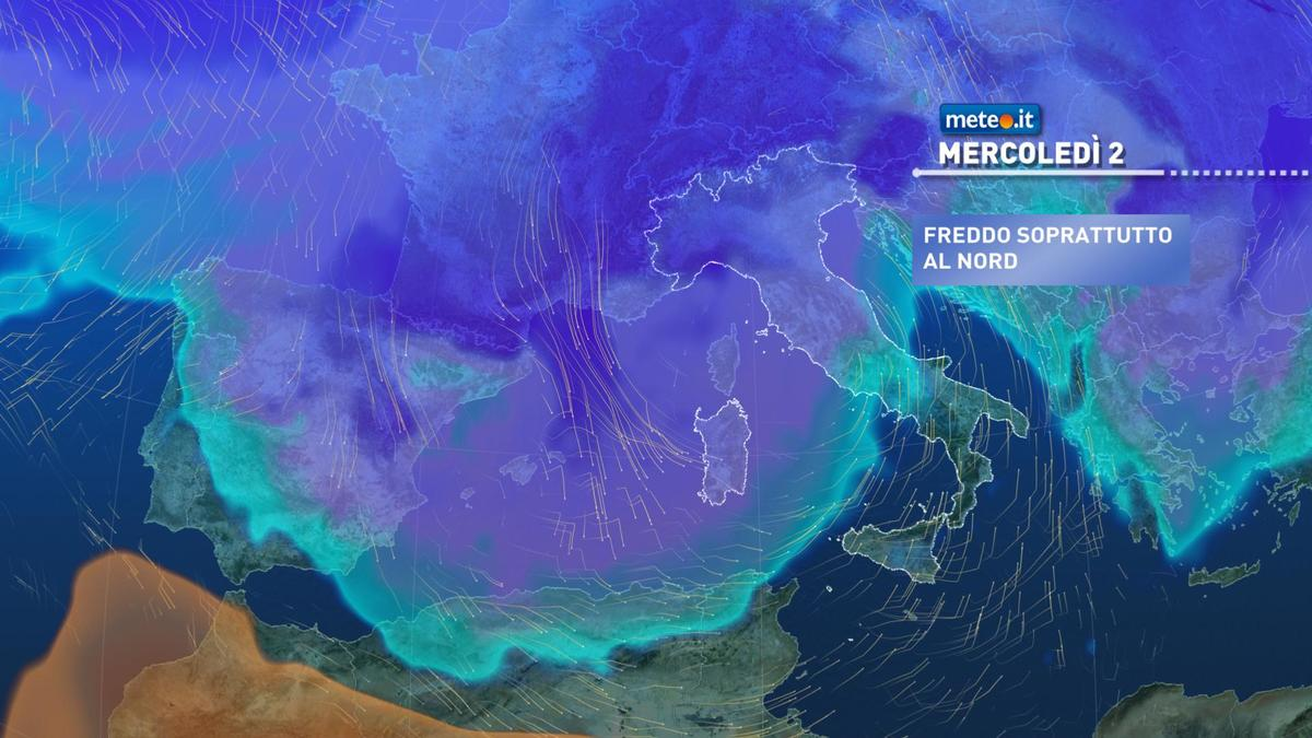 Meteo, 2 dicembre di maltempo: neve a bassa quota e rischio di piogge intense